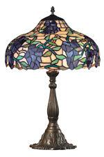 Klassische Tiffany Tischlampe mit Blumen-Motiv - Fliedertraum in Lila