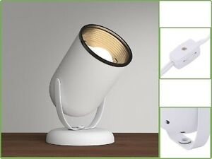 Uplight Floor Lamp Head Pivoting Up Down Lighting Fixture - 6-3/5 in. White