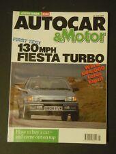 Autocar & Motor Magazine (20 Jun 1990) - Fiesta Turbo - Maserati Bora - Alfa 33