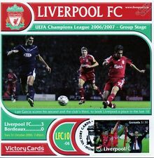 Liverpool 2006-07 Bordeaux (Luis Garcia) Football Stamp Victory Card #610