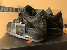"Air Jordan 4 iv Olivia Kim no cover black cat sz 9.5W / 8M DS  "" Pony Hair """