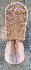 Antique Hand Carved Wooden African Folding Chair Seat Master handcrafted