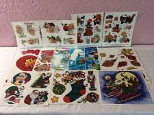 Window Clings Lot 13 Sheets Valentines Easter Halloween Christmas Snoopy Decor
