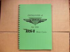 BSA C10.C11,B31,B32,M20,M21 PARTS BOOK 1946 RIGID FRAME ALSO 47- 48 SEE DISCRIP