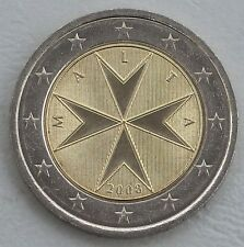 2 Euro Moneta Da Corso Malta 2008 unz