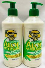 (2) Banana Boat After Sun Lotion Aloe, 16 Fl Oz Free Shipping!