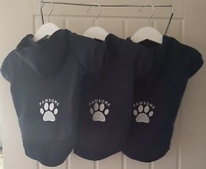 Navy  Dog Hoodie  Sweatshirt/Jumper Medium PAWSOME