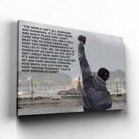 Rocky Balboa Quote Canvas, Rocky Movie Motivational Wall Art Photo Print