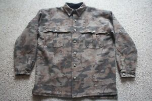 Weatherby Performance Outerwear Wool Camouflage Camo Hunting Lined Jacket XL