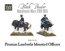 Warlord Games - Black Powder BNIB Napoleonic - Prussian Landwehr Officer Mounted