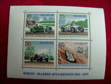 1971 The 50th Anniversary of the AVUS Car Race MNH Miniature Sheet from Germany