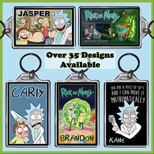 Personalised Rick and Morty Key Ring - 7x5cm Keyring Chain, Riggity Wrecked Gift