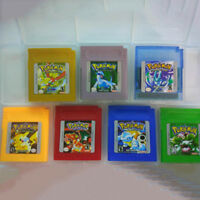 New 7 Pieces Game Cards Carts Color Version For Nintendo Pokemon GBC Game Boy