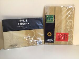 Dorma MIRAGE GOLD Oxford Pillowcase & Luxury Pecale Pillowcases BRAND NEW 2000