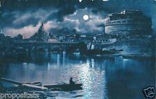 lz 47 1923 ROMA Veduta generale del ponte e Castel Sant'Angelo - viagg FP -