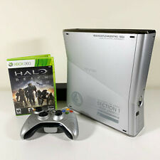 New listing Halo Reach Edition Xbox 360 S Slim 250G 00004000 B Console Bundle w/ Controller and Game