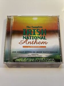 The Complete Irish National Anthem 4 Versions 20 Great Songs CD Traditional Trad