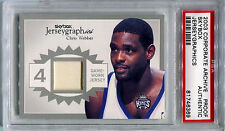 2003-04 SkyBox Autographics CHRIS WEBBER Silver Jerseygraphics One of a Kind PSA