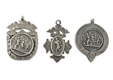 More details for three church lads brigade midland camp 1909-1910 silver sports award medals