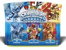 Skylanders Spyros Adventure Triple 3 Pck Whirlwind Double Trouble Drill Sergeant