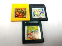 Classic Gameboy game lot Donkey Kong LAND ELMO abc Mario Galaxy 2 nintendo