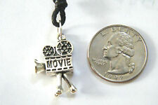 """MOVIE CAMERA Necklace Director Actor Charm HOLLYWOOD Choker 16""""-28"""" Cord NEW!"""