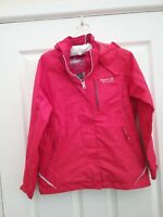 Regatta Great Outdoors Girls Pink Rain Jacket Age  7/8 Years Excellent Condition