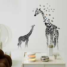 Large Giraffe Wall Sticker Removable Vinyl Wild  Butterfly  For Home Decoration