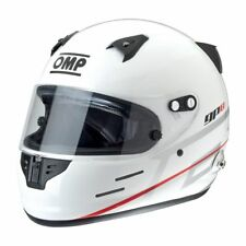 NEW!! FIA OMP GP-8 Helmet Rally Race Racing GP8 WHITE Sport Protect FIA Approved