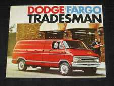 1971 Dodge Fargo Tradesman Van Sales Brochure CDN
