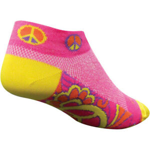 SockGuy Groovy Sock Pink/Yellow Small/MD