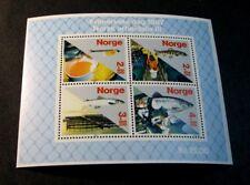 Souvenir Sheet Norway Stamp Scott# B70 Salmon Industry 1987 MNH  C505