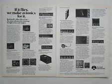 3/1978 PUB ROCKWELL COLLINS AVIONICS MICRO LINE RECEIVER TRANSPONDER ORIGINAL AD
