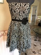 Fire Los Angeles Strapless Dress Size Small Black/Grey