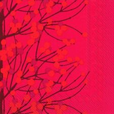 Marimekko LUMIMARJA RED Berry Christmas cocktail napkins 20 x 25cm s