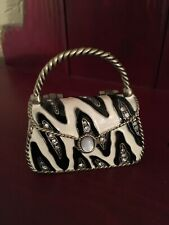 Darling Purse Handbag Trinket Box All Blinged Out Animal Print