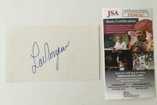 Lou Ferrigno Signed Autographed 3x5 Card JSA Certified The Incredible Hulk