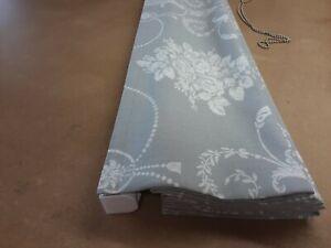 Roman Blind, Laura Ashley Josette Steel fabric  (Made to measure)