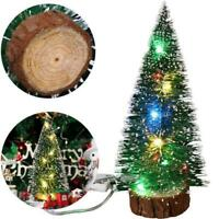 Mini Artificial Christmas Tree & LED Lights Ornaments Xmas Party Decor