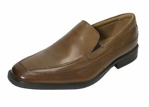 CLARKS Mens Tilden free Leather Square Toe Loafer, Dark Tan, Size 10.5 NEW