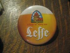 Leffe Blonde Beer Abbaye de Belgium Brewery Pint Advertisement Pocket Mirror $20