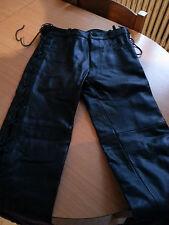 Hose in -Leder Biker mit Streifen t40 Leder Hose