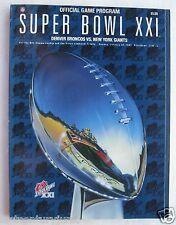 Official Game Program Super Bowl XXI Denver Broncos / NY Giants 1987