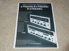 Marantz Model 19, 2215 Receiver Ad, 1972, Articles, 1 page, Rare Ad!