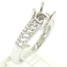 NEU 14k Weiss Gold .50 K Diamant offen Arbeit Verlobungsring Halb Halterung