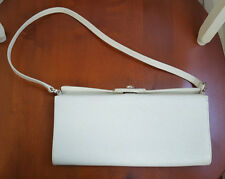 Salvatore Ferragamo Saffiano Leather Ivory White Bag, Excellent Condition