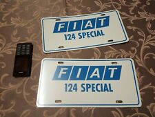 Fiat 124 special sport coupe spider wagon motorshow plate showroom NOS RARE