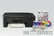 A4 Sublimation Printer Bundle: EPSON ET-2650 + 4 x 100ml Ink + Paper - None OEM