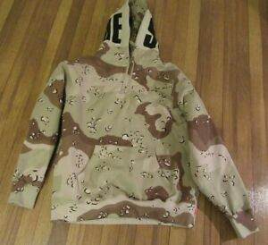 Supreme Rib Hooded Sweatshirt Size Large Chocolate Chip Camo FW20 Brand New 2020