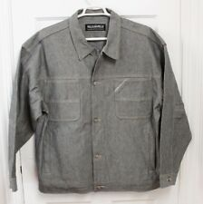 Pelle Pelle Marc Buchanan Mens Denim Jean Jacket Sz XL Gray Button Up Urban Mod
